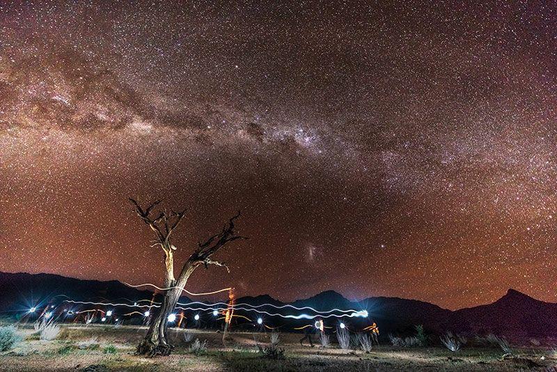 Sternnehimmel von Namibia