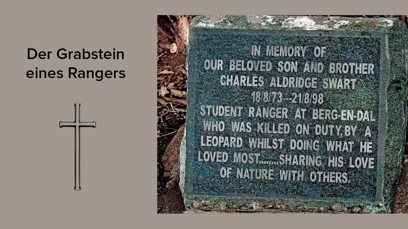 Der Grabstein eines Rangers in Südafrika fotografiert von Benny Rebel auf einer Fotoreise