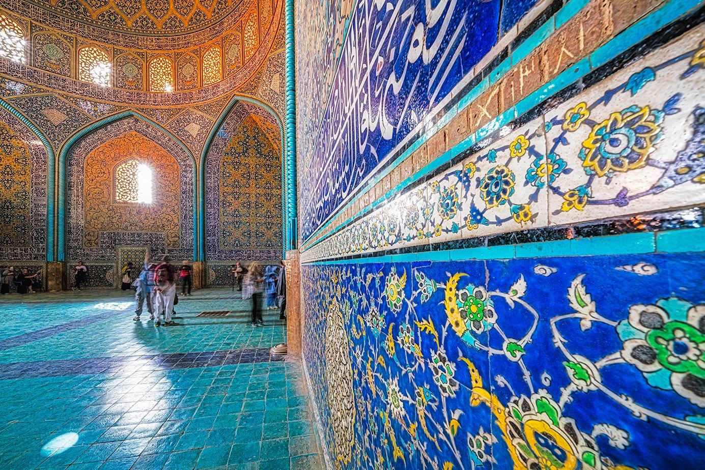 Eine Moschee in Isfahan fotografiert auf einer Fotoreise durch den Iran.