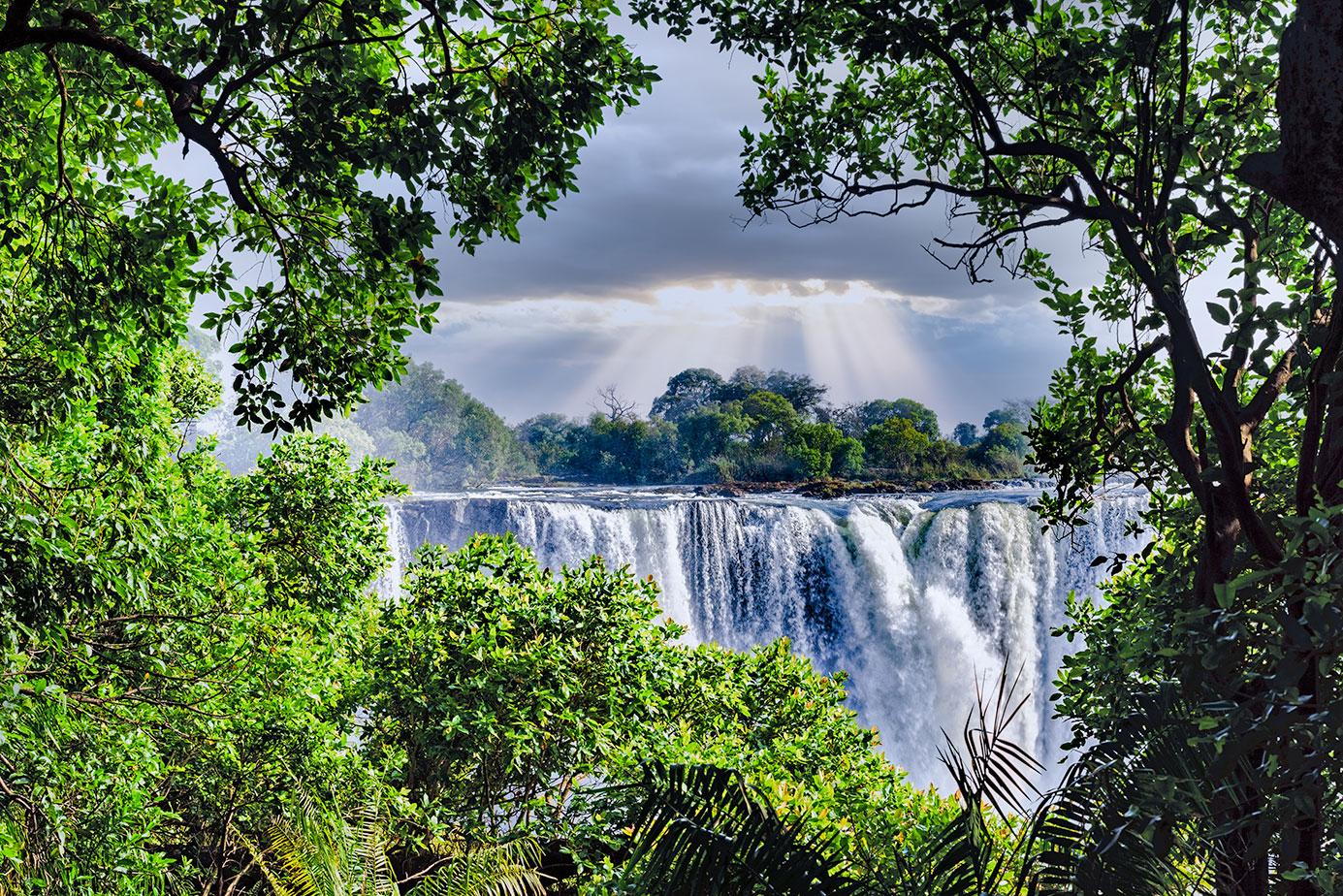Viktoria Wasserfälle in Simbabwe fotografiert auf einer Fotoreise mit Benny Rebel Fotosafaris